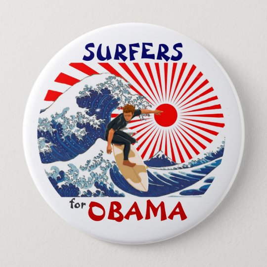 Surfers for Obama Pinback Button