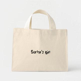 Surfer's girl tote bag