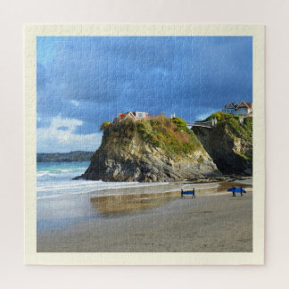 Surfers on Newquay beach Jigsaw Puzzle