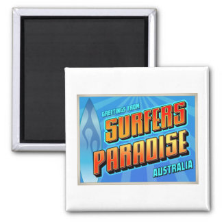 SURFERS PARADISE 2 INCH SQUARE MAGNET