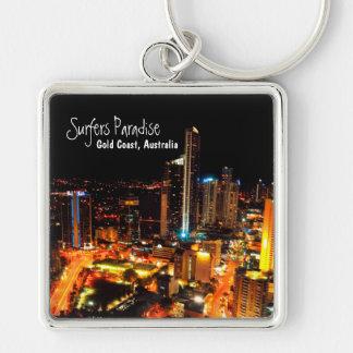 Surfers Paradise Gold Coast Australia City Lights Key Chain