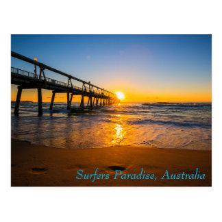 Surfers Paradise Jetty at Sunrise Postcard