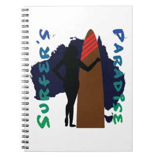 surfer's paradise spiral notebook