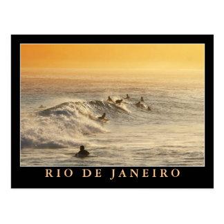 """""""Surfers, Rio de Janeiro"""" postcard"""