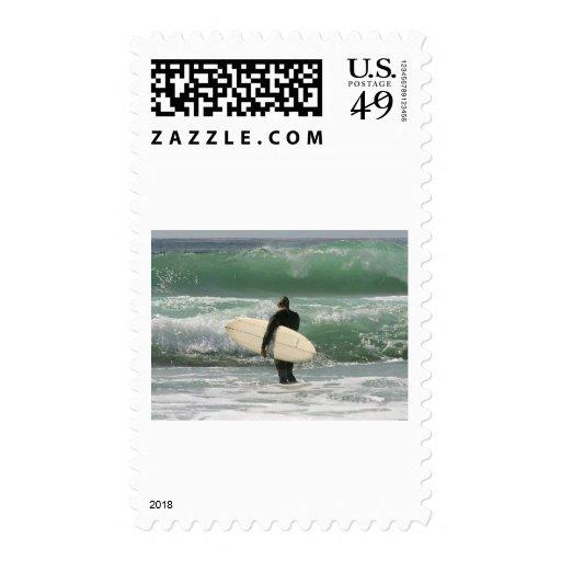 Surfers Surfing Sport Stamp