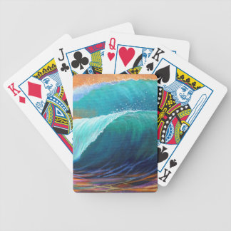 Surfers View of the Barrel Bicycle Playing Cards