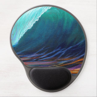 Surfers View of the Barrel Gel Mouse Pad
