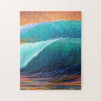 Surfers View of the Barrel Jigsaw Puzzle