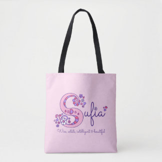 Surfia name and meaning monogram bag