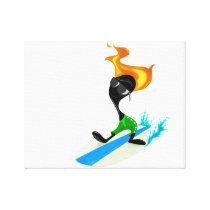 Surfin' Animation Canvas Print