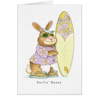 Surfin' Bunny Card