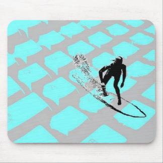 Surfin el Mousepad neto Alfombrillas De Ratones