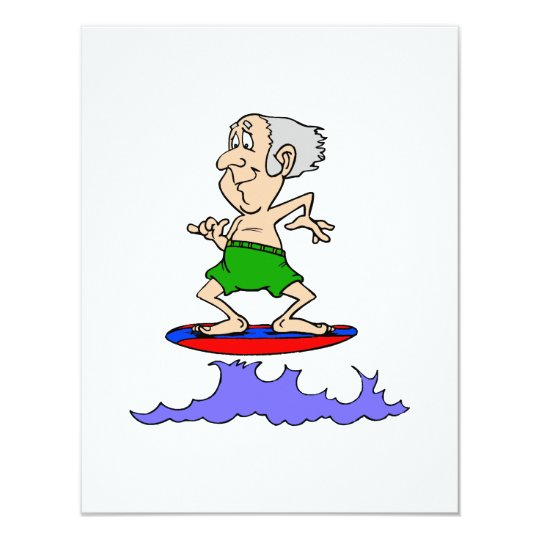 Surfin Grandpa Card