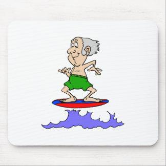 Surfin Grandpa Mouse Pad