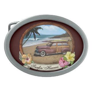 Surfin' Hawaii Oval Belt Buckle