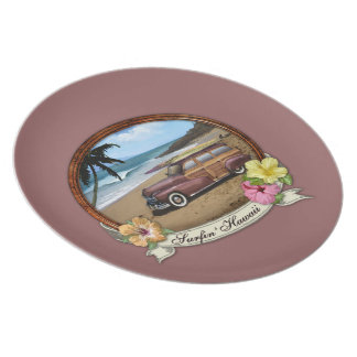 Surfin' Hawaii Party Plates