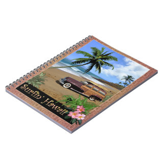Surfin' Hawaii Spiral Notebook