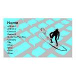 Surfin la tarjeta neta del perfil plantilla de tarjeta de visita