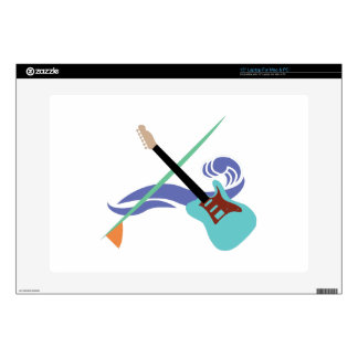 "Surfin' Music Decals For 15"" Laptops"