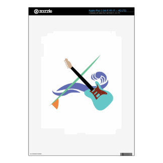 Surfin' Music Decals For iPad 3