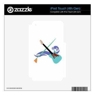 Surfin' Music iPod Touch 4G Decals
