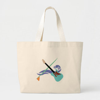 Surfin' Music Large Tote Bag