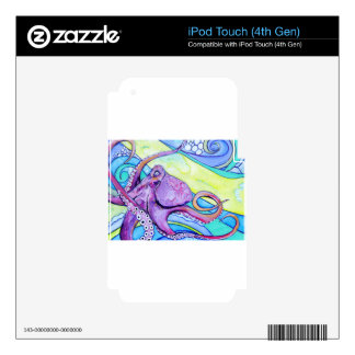Surfin Octopus iPod Touch 4G Skin