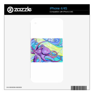 Surfin Octopus Skins For iPhone 4