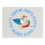Surfin' Santa Postcards