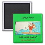 Surfin' Santa Refrigerator Magnet