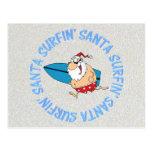Surfin Santa Tarjetas Postales