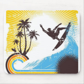 """Surfin'"" the Net Mouse Pad"