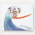 sUrFiN WiTh sAnTa Mouse Pad
