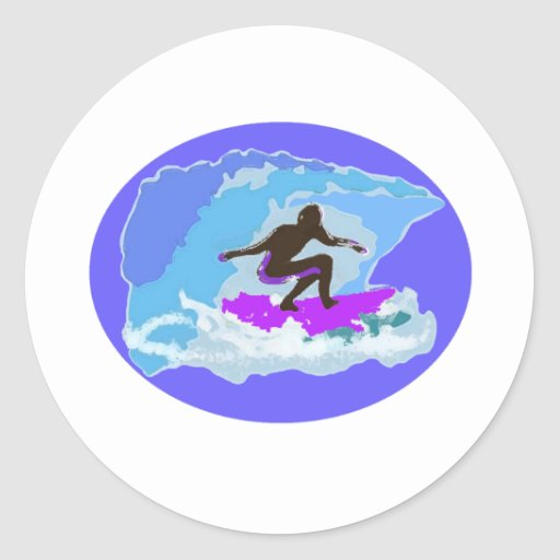 surfing1basic etiqueta redonda