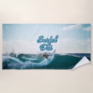 Surfing 11 Beach Towel