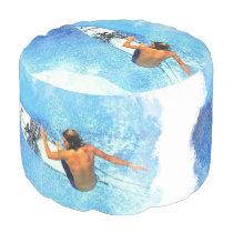 Surfing 1 round pouf