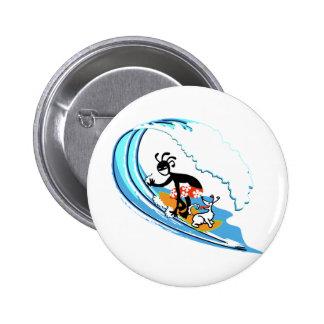 Surfing 2 Inch Round Button