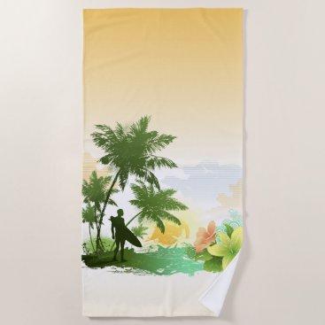 Beach Themed Surfing 6 Beach Towel