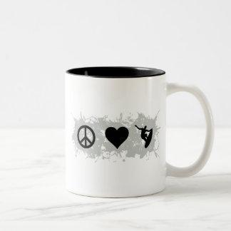 Surfing 6 Two-Tone coffee mug