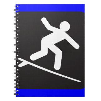 surfing-99304  surfing surf sports water black SYM Spiral Notebook