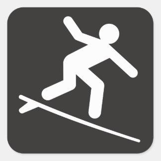surfing-99304  surfing surf sports water black SYM Square Sticker