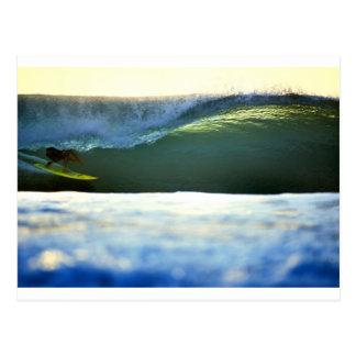 Surfing a Green Wave Desert Point Lombok Postcard
