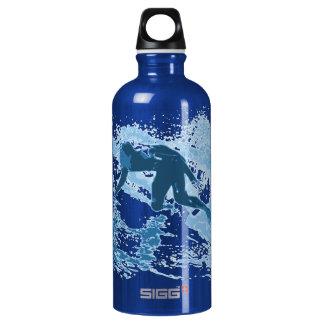 Surfing Aluminum Water Bottle