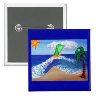 Surfing Angel Raphael Button