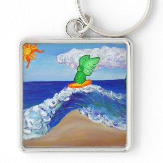 Surfing Angel Raphael Keychain keychain
