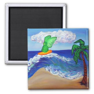 Surfing Angel Raphael Magnet magnet