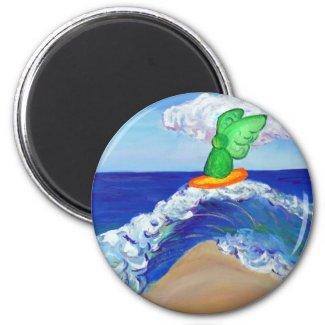 Surfing Angel Raphael Magnet