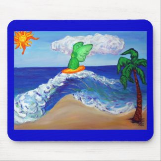 Surfing Angel Raphael Mousepad