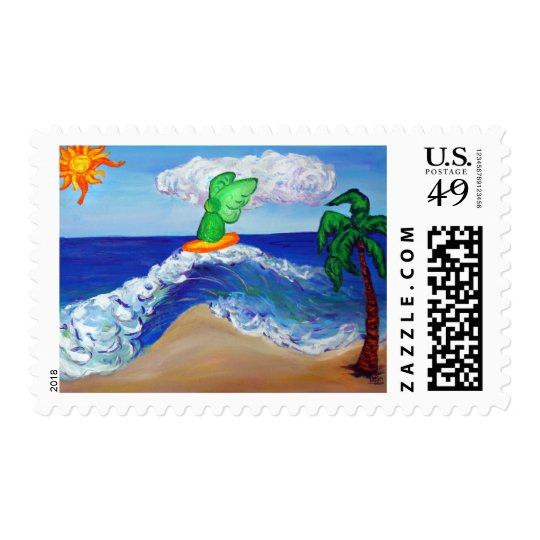 Surfing Angel Raphael on Healing Waves Postage