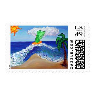 Surfing Angel Raphael on Healing Waves Stamp